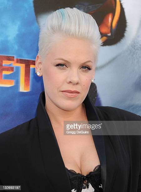 Actress/recording artist Pink arrives at the 'Happy Feet Two' Los Angeles Premiere at Grauman's Chinese Theatre on November 13 2011 in Hollywood...