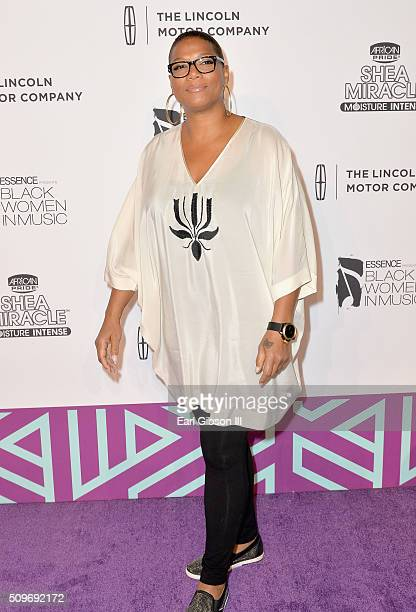 Actress/recording artist Queen Latifah attends the 2016 Essence Black Women in Music event at Avalon on February 11 2016 in Hollywood California