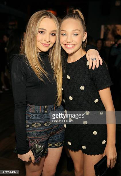 Actress/recording artist Sabrina Carpenter and TV personality Maddie Ziegler attend the NYLON Young Hollywood Party presented by BCBGeneration at...