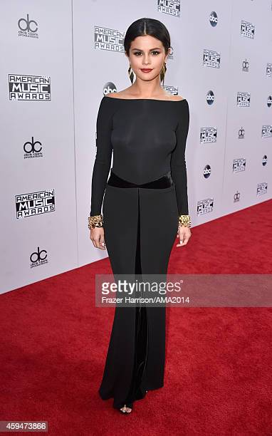 Actress/recording artist Selena Gomez attends the 2014 American Music Awards at Nokia Theatre LA Live on November 23 2014 in Los Angeles California