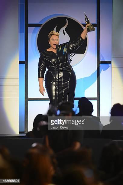 Actress/recording artist Tamela Mann attends the 29th Annual Stellar Awards at Nashville Municipal Auditorium on January 18 2014 in Nashville...