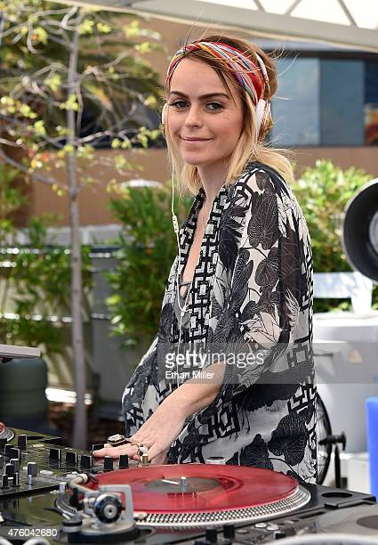 Actress/recording artist Taryn Manning DJ's during Ditch Fridays at Palms Pool Dayclub on June 5 2015 in Las Vegas Nevada