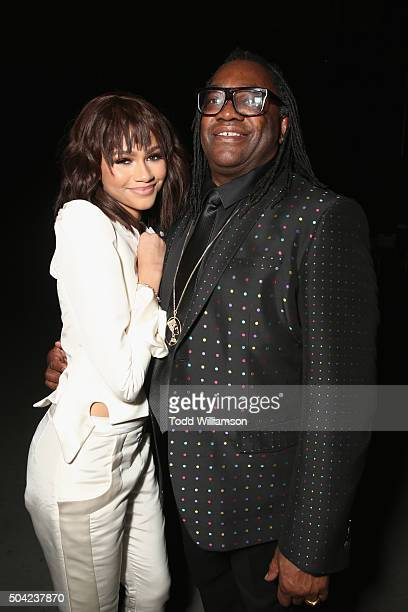 Actress/recording artist Zendaya and Kazembe Ajamu Coleman attend The Art of Elysium 2016 HEAVEN Gala presented by Vivienne Westwood Andreas...