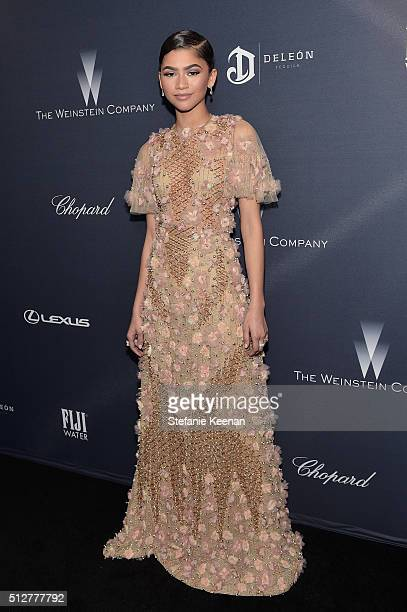 Actress/recording artist Zendaya attends The Weinstein Company's Pre-Oscar Dinner presented in partnership with FIJI Water, Chopard, DeLeon, and...