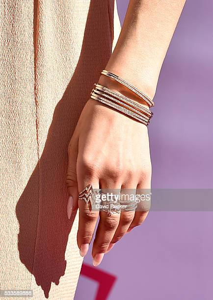 Actress/recording artist Zendaya jewelry detail attends the 2016 Billboard Music Awards at TMobile Arena on May 22 2016 in Las Vegas Nevada