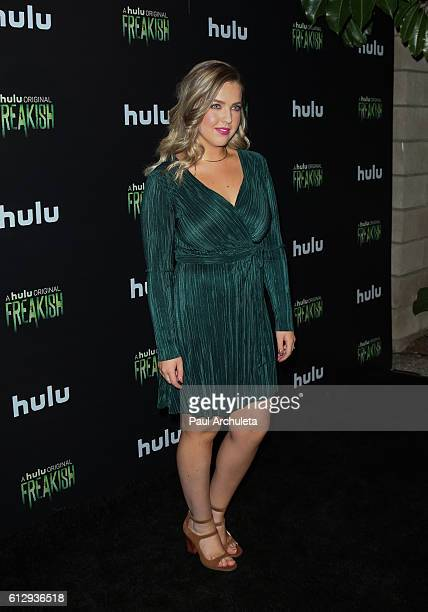 Actresss Aislinn Paul attends the premiere of Hulu's 'Freakish' at Smogshoppe on October 5 2016 in Los Angeles California