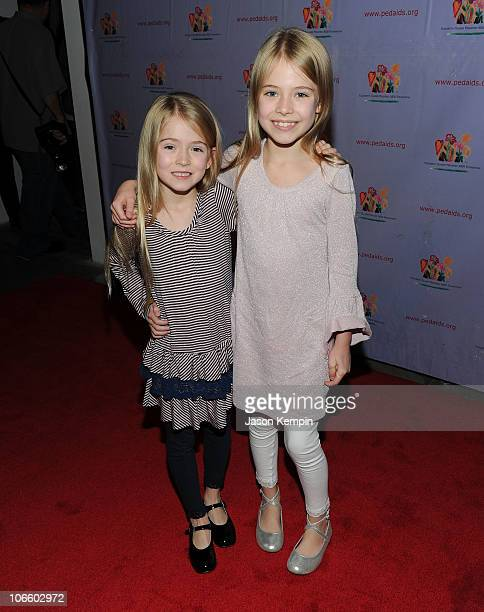 Actress's Alexa Gerasimovich and Ashley Gerasimovich attend the 17th Annual Kids For Kids Family Carnival at Skylight Studio on November 6 2010 in...