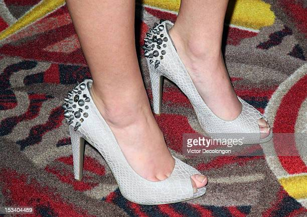 Actresss Danielle Chuchran arrives for the sneak preview of 12 Dogs Of Christmas Great Puppy Rescue on October 4 2012 in Los Angeles California