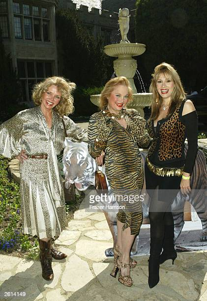 Actress's Deanna Lund Carol Connors and Rhonda Shear attend the 9th annual Safari Brunch at the Playboy Mansion to benefit the Wildlife Waystatio...