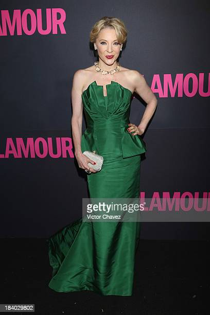Actresss Edith Gonzalez attends the Glamour Magazine 15th Anniversary at Casino Del Bosque on October 10 2013 in Mexico City Mexico
