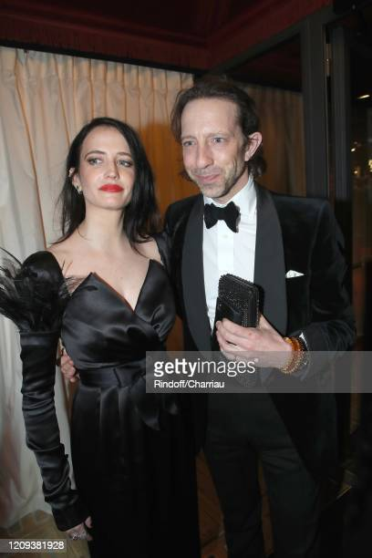 Actresss Eva Green and her Companion attend Cesar Film Award 2020 Dinner at Le Fouquet's on February 28, 2020 in Paris, France.