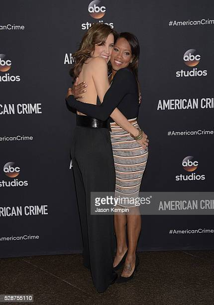 Actress's Felicity Huffman and Regina King attend an FYC Screening Of ABC's 'American Crime' at Directors Guild Of America on May 6 2016 in Los...