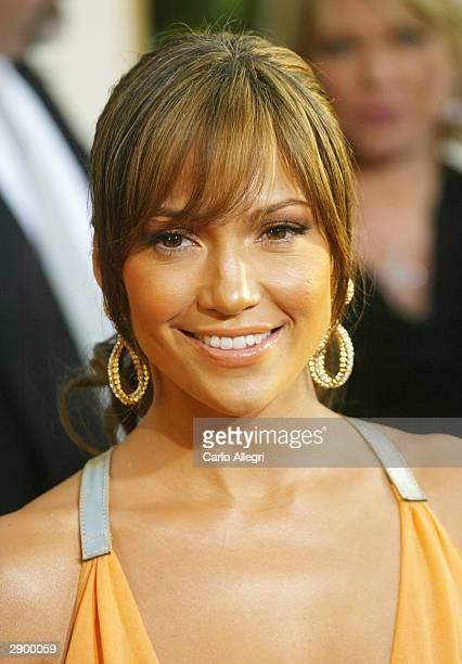 Actresss Jennifer Lopez attends the 61st Annual Golden Globe Awards at the Beverly Hilton Hotel on January 25 2004 in Beverly Hills California