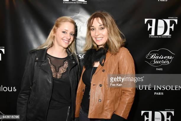 Actresss Julie Nicolet and writer Anna Veronique El Baze attend FDF Magazine Launch Party at Hotel Christian Dior on February 21 2017 in Paris France