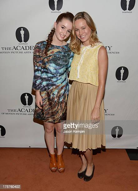 Actress's Kaitlyn Dever and Brie Larson attend The Academy Of Motion Picture Arts And Sciences's Sneak Preview Screening Of Short Term 12 at Linwood...