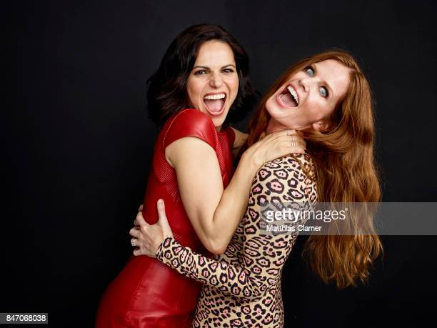 Actresss Lana Parrilla and Rebecca Mader from 'Once Upon a Time' are photographed for Entertainment Weekly Magazine on July 23 2016 at Comic Con in...