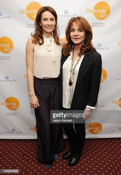 Actress's Laura Benanti and Stockard Channing attend the Opening Act's Benefit Play Reading Of 'Collected Stories' After Party at Samuel J Friedman...