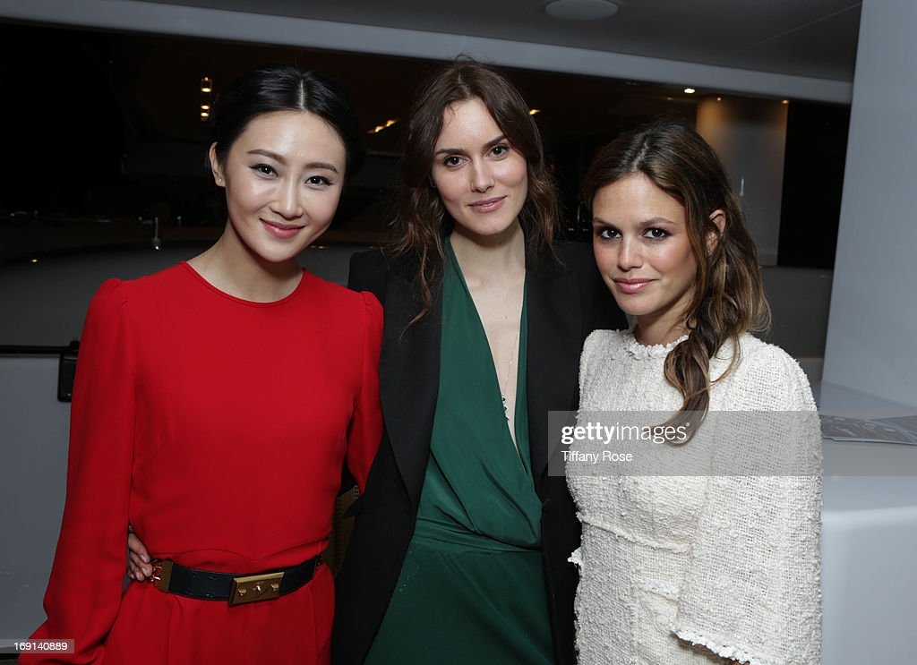 Actress's Lin Peng, Christina Andhel and Rachel Bilson attend My Yacht Party sponsored by Sparkling Hill Resort on May 19, 2013 in Cannes, France.