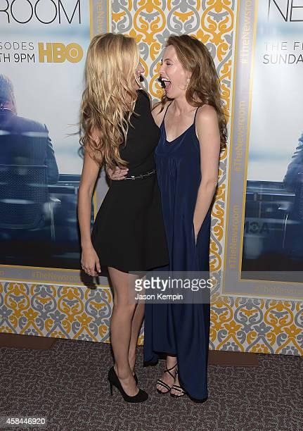 Actress's Margaret Judson and Wynn Everett attend the premiere of HBO's Newsroom Season 3 at Directors Guild Of America on November 4 2014 in Los...