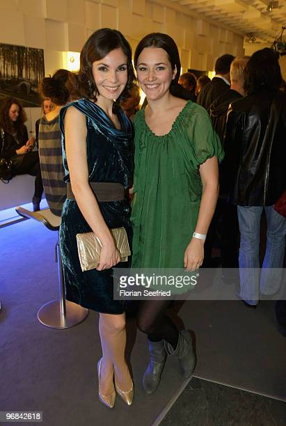 Actresss Nadine Warmuth and Alissa Jung attend the 'Next Generation' reception during day eight of the 60th Berlin International Film Festival at the...