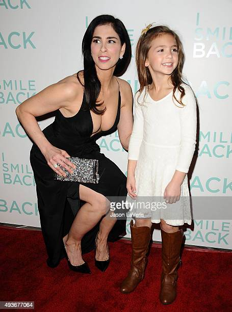 Actresss Sarah Silverman and Shayne Coleman attend the premiere of 'I Smile Back' at ArcLight Cinemas on October 21 2015 in Hollywood California