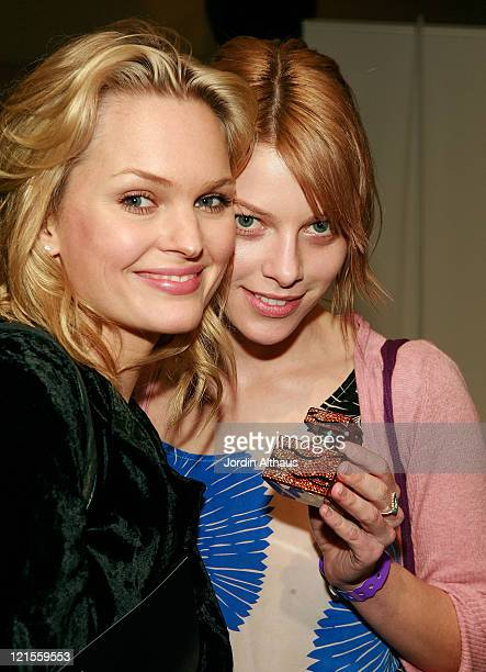 Actresss Sunny Mabrey and Lauren German attend the Kari Feinstein Winter Style Lounge at Social Hollywood on January 10 2008 in Hollywood Califonia