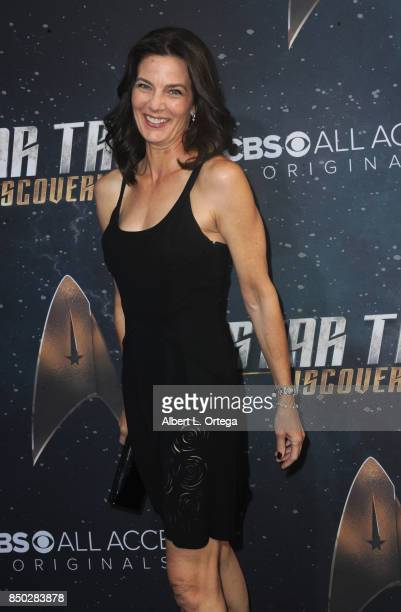 """Actresss Terry Farrell arrives for the premiere of CBS's """"Star Trek: Discovery"""" held at The Cinerama Dome on September 19, 2017 in Los Angeles,..."""