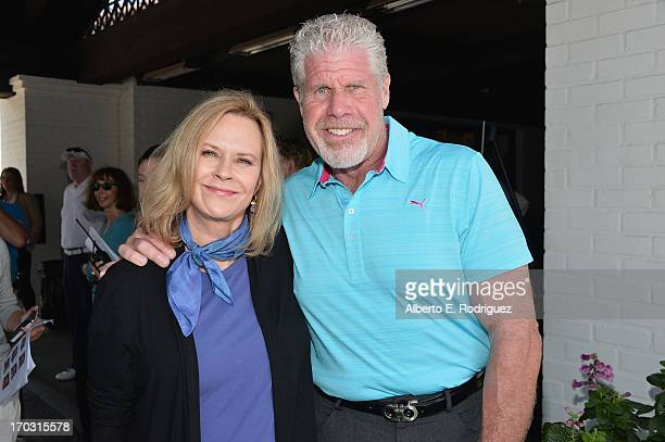 Actress/SAG Foundation President JoBeth Williams and actor Ron Perlman attend the Screen Actors Guild Foundation 4th Annual Los Angeles Golf Classic...