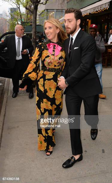 ActressSam TaylorJohnson and Aaron TaylorJohnson are seen walking in Soho on April 27 2017 in New York City