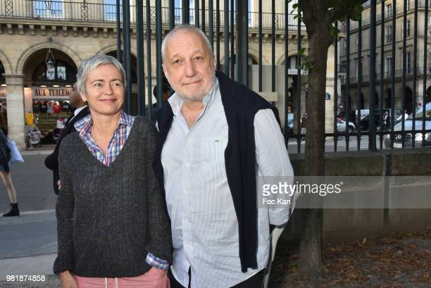 Actress/screenwriter Alexia Stresi and her husband Francois Berleand attend Fete des Tuileries on June 22 2018 in Paris France