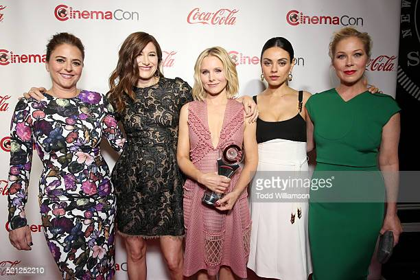 Actress/screenwriter Annie Mumolo and actresses Kathryn Hahn,Kristen Bell, Mila Kunis and Christina Applegate, recipients of the Female Stars of the...