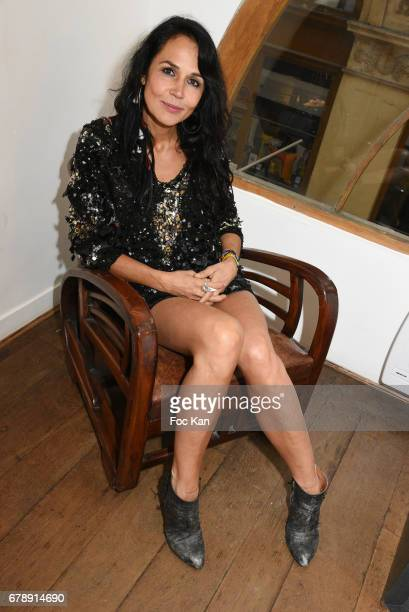 Actress/Sculptor/writer Catherine Wilkening attends Parcours D'une Vorace Catherine Wilkening Sculptures Exhibition Preview and Book signing at...