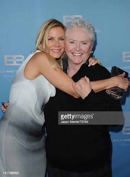 Actressses Katherine Kelly Lang and Susan Flannery attend the 5th Silver Anniversary party for CBS' The Bold And The Beautifu on March 10 2012 in Los...