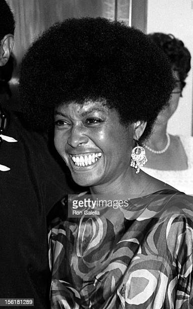 Actress/singer Abbey Lincoln attends the premiere of 'For Love Of Ivy' on July 16 1968 at Loew's Tower East Theater in New York City