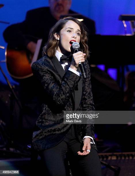 Actress/singer Abigail Spenser perform onstage during the Screen Actors Guild Foundation 30th Anniversary Celebration at Wallis Annenberg Center for...