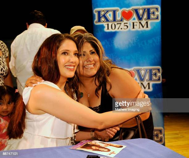 COVERAGE*** Actress/Singer Adela Noriega meets with fans in the Golden Bear Theater at Six Flags Magic Mountain on June 28 2009 in Valencia California