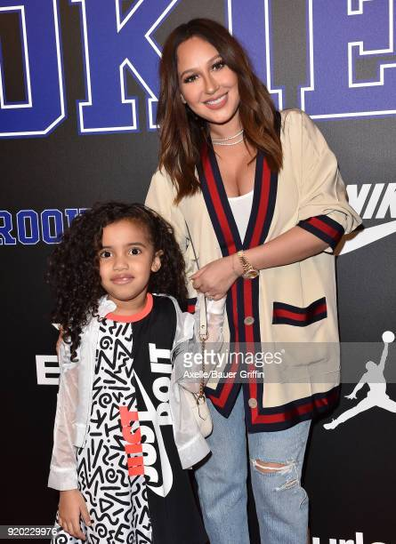 Actress/singer Adrienne Bailon and niece Jet Marie attend ROOKIE USA Fashion Show at Milk Studios on February 15 2018 in Los Angeles California