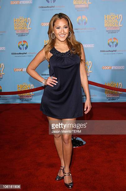 Actress/singer Adrienne Bailon pose at the DVD release of Disney Channels' 'High School Musical 2 Extended Edition' at The El Capitan Theatre on...