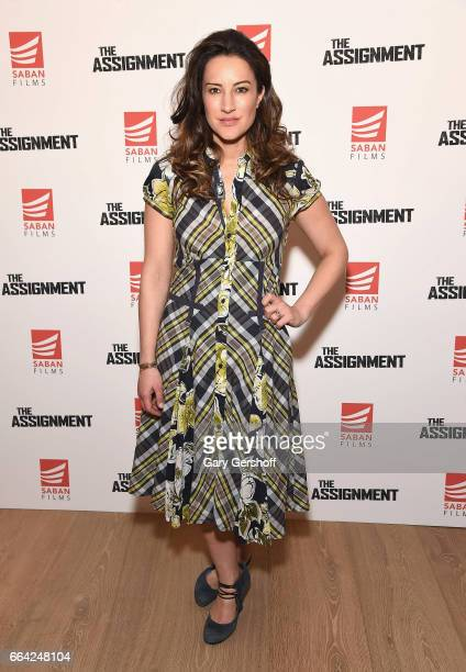 Actress/singer America Olivo attends 'The Assignment' New York screening at the Whitby Hotel on April 3 2017 in New York City