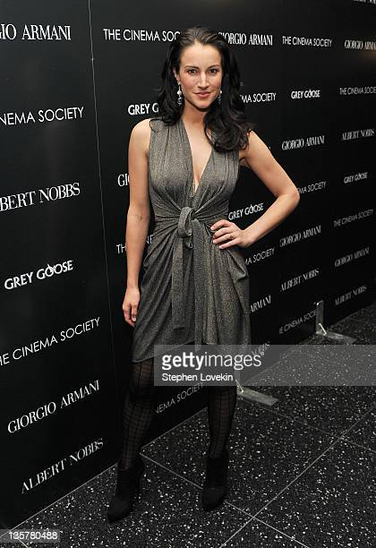 Actress/singer America Olivo attends the Giorgio Armani Cinema Society screening of 'Albert Nobbs' at the Museum of Modern Art on December 13 2011 in...