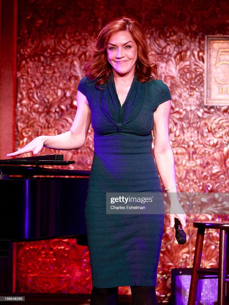 Actress/singer Andrea McArdle visits at 54 Below on January 15, 2013 in New York City.