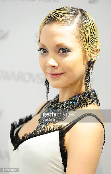 Actress/Singer Anna Tsuchiya attends the press preview of Swarovski Ginza Shop Opening on March 27 2008 in Tokyo Japan