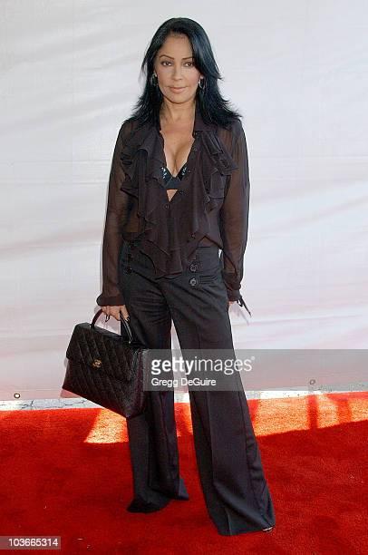 Actress/singer Apollonia Kotero arrives at the 2007 World Magic Awards at the Barker Hanger on October 13 2007 in Santa Monica California