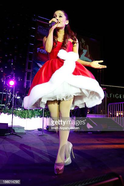 Actress/singer Ariana Grande performs onstage at the Citadel Outlets 11th Annual Tree Lighting Event at Citadel Outlets on November 10 2012 in City...