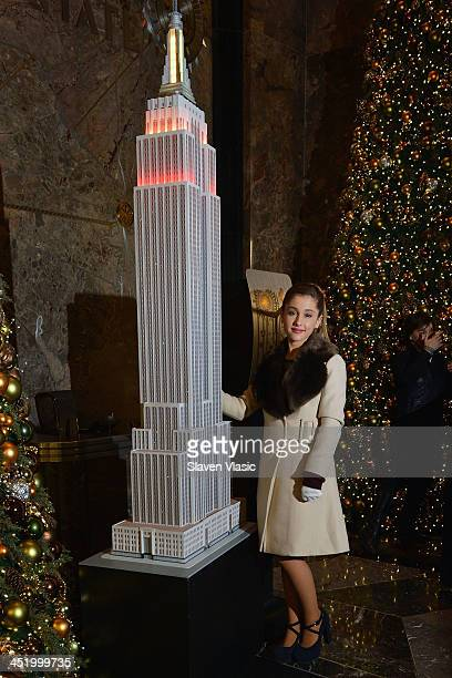 Actress/singer Ariana Grande visits The Empire State Building on November 25 2013 in New York City