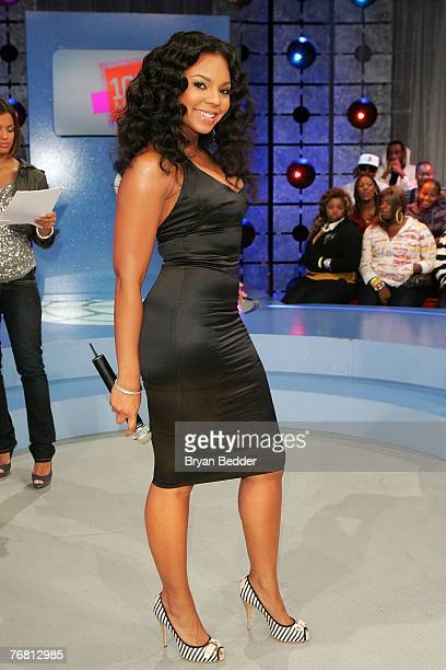Actress/singer Ashanti poses onstage at BET's 106 Park at BET Studios September 17 2007 in New York City