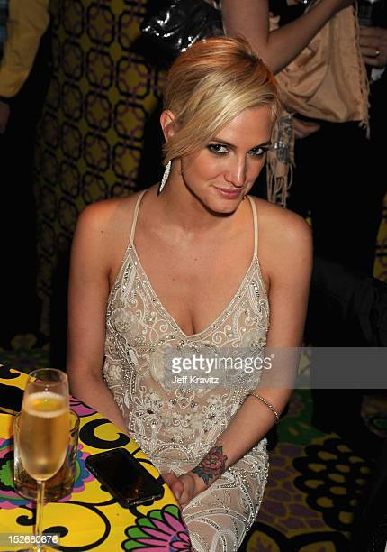 Actress/singer Ashlee Simpson attends HBO's Official Emmy After Party at The Plaza at the Pacific Design Center on September 23 2012 in Los Angeles...