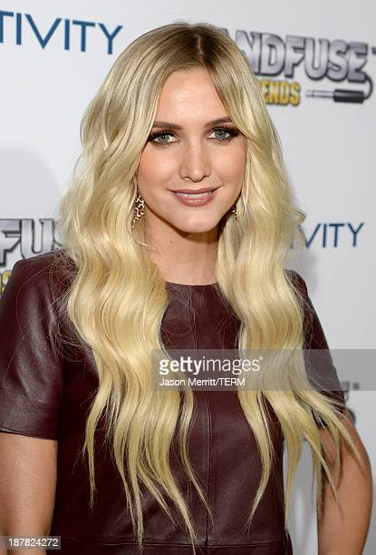 Actress/Singer Ashlee Simpson attends the BandFuse Rock Legends video game launch event at House of Blues Sunset Strip on November 12 2013 in West...