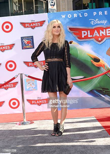 "Actress/singer Ashlee Simpson attends the worldpremiere of ""Disney's Planes"" presented by Target at the El Capitan Theatre on August 5 2013 in..."