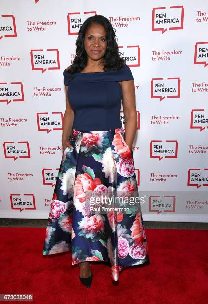 Actress/singer Audra McDonald attends PEN America's 2017 Literary Gala Red Carpet at American Museum of Natural History on April 25 2017 in New York...